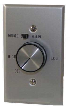Envirofan SC 105FR / 1-5 Fan Speed Control / Reversing Switch Built In / 5 Amp Capacity / 120 V