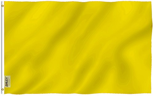 Anley Fly Breeze 3x5 Foot Solid Yellow Flag - Vivid Color an