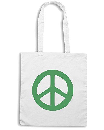 T-Shirtshock - Bolsa para la compra TM0472 peace Blanco