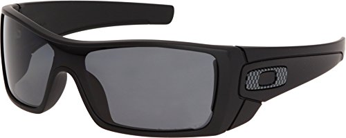 Oakley Men's Batwolf Polarized Rectangular Sunglasses,Matte Black Frame/Grey Lens,one - Sunglasses M Frame Oakley Polarized
