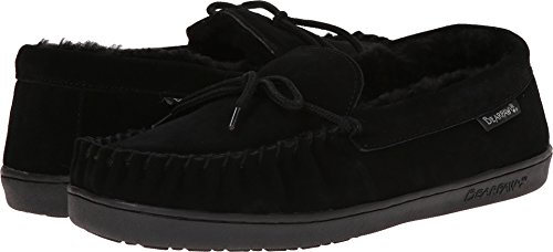 BEARPAW Men's Moc II Slip-On,Black,8 M US]()