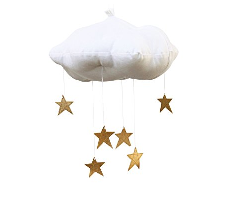 Baby Jives Baby Mobile Crib Mobile - Star Cloud Mobile in Gold by Baby Jives Co