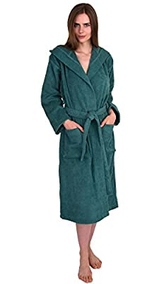 TowelSelections Women's Hooded Robe, Cotton Terry Cloth Bathrobe, Made in Turkey