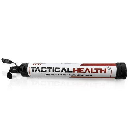 Tactical Health Survival Straw - Emergency Personal Water Filtration & Purification Straw - .01 Micron Absolute Hollow Fiber Membrane - 530 Gallon Capacity