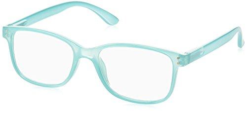 Peepers Unisex-Adult Happy Hour 834150 Square Reading Glasses, - Aqua Reading Glasses