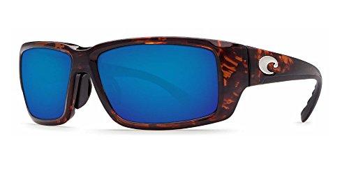 Costa Del Mar Fantail 580G Fantail, Tortoise Frame Global Fit Blue Mirror, BLUE - Mirror Mar Del Blue Blackfin Costa 580g