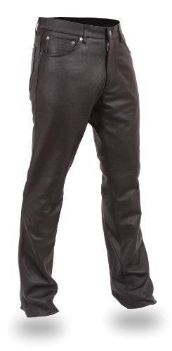 First Manufacturing Men's 5-Pocket Modem Fit Pants (Black, Size 38) ()