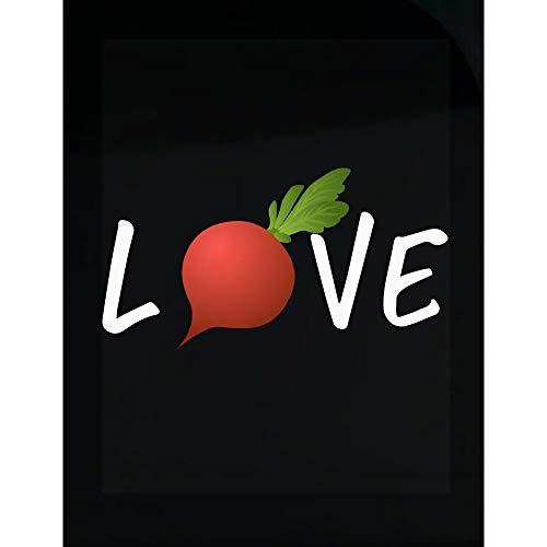 McCaff Merch Eating Healthy Gardener Gift Radish Lover Foodie - Transparent Sticker