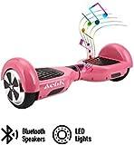 "ACBK - Patinete Eléctrico Hover Autoequilibrio con Ruedas de 6.5"" (Altavoces Bluetooth + Luces Led integradas) Velocidad máxima: 10-12 km/h - Autonomía 10-20 km (Rosa)"