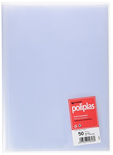 grafoplas – 50 Sleeves, Foolscap, Tapas Folder PP Folio Transparent by Grafoplas (Image #2)