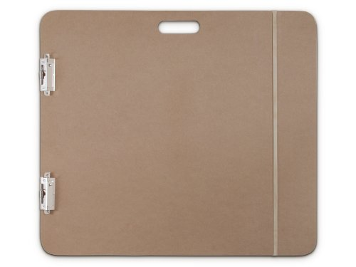 Saunders 05607 Recycled Hardboard Sketchboard - Brown, 23 in. x 26 in. Clipboard with Built-in Handle - Solid Drawing Board for Artists, Students, and Creatives ()