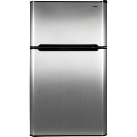 Haier 3.2 cu ft Refrigerator Virtual Steel