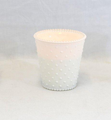 Medium White Hobnail Glass Jar - Set Of 3 ()