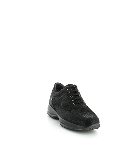 Sneakers Igi&Co per donna in camoscio nero effetto lamellato nero (Taglia 39)