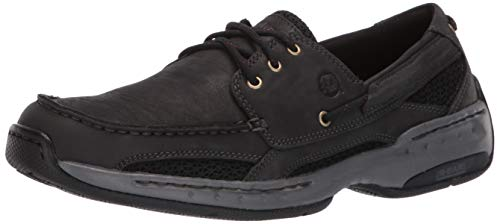 (Dunham Men's Captain Boat Shoe,Black,13 4E US)