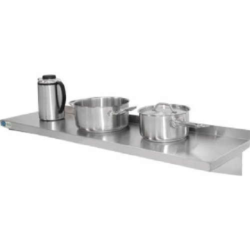 Vogue Y750  é tagè re de cuisine avec supports de fixation en acier inoxydable, 900  mm x 300  mm 900 mm x 300 mm Nextday Catering 13317