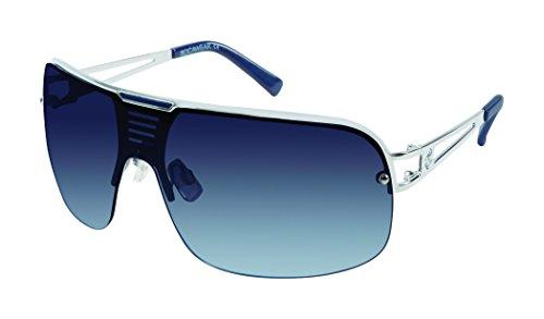 Rocawear Men's R1416 Slvbl Non-Polarized Iridium Shield Sunglasses, Silver Blue, 78 ()