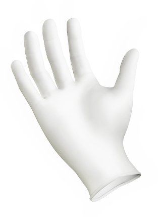 GRIPSTRONG WHITE NITRILE GLOVES SIZE LARGE by SEMPERMED