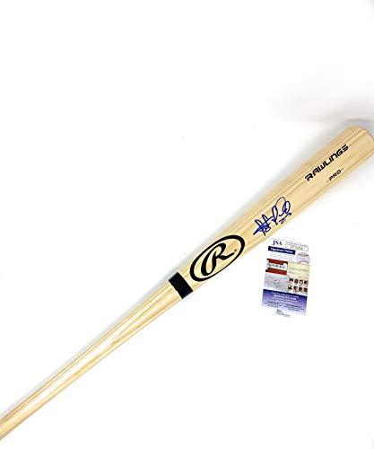 Fernando Tatis Jr San Diego Padres Signed Autograph Blonde Baseball Bat JSA Signature Debut Rookie Certified