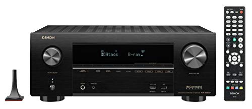 Denon AVR-X2600H 4K UHD AV Receiver | 2019 Model | 7.2 Channel, 95W Each | New Dolby Atmos Height Virtualization, Dual Subwoofer Outputs | 8 HDMI Inputs, 2 Outputs with eARC | AirPlay 2, Alexa & HEOS (Best Wifi Av Receiver)