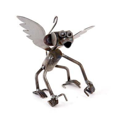 Small Flying Monkey Recycled Metal Sculpture