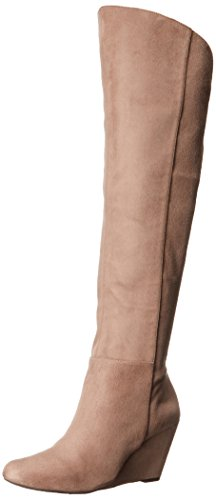 Suede Womens Wedge Boots - 4