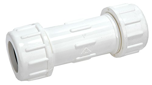 Pvc Compression Repair Coupling - 3/4-Inch PVC Compression Couplings - By PlumbUSA