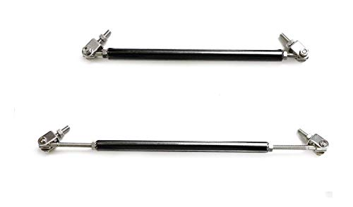 Trd Strut Bars - iJDMTOY (2) Universal Black Aluminum Front Bumper Lip Splitter Strut Rod Support Bars, 8