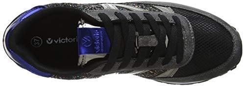 Ciclista negro Glitter Baskets Deportivo 10 Noir Femme Victoria 4PwZY5qw