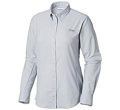 8298ef25679 Amazon.com: Columbia Women's PFG Tamiami II Long Sleeve Shirt , Black,  X-Small: Clothing