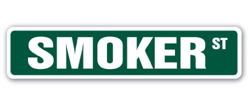 SMOKER Street Sign cooker bbq barbque grill grilling