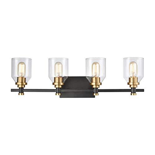 Elk Lighting 15403/4 Vanity Light, Matte Black, Satin Brass ()