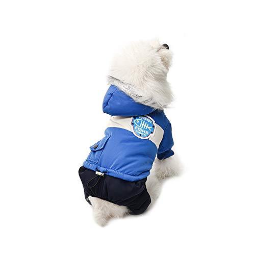 K9 Overcoat (zgshnfgk Pet Dog Puppy Apparel Cloth, Dog Winter Cloth Pet Overcoat Coat(Blue/L))