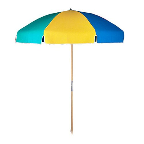 7.5 ft.Steel Commercial Grade Beach Umbrella with Ash Wood Pole