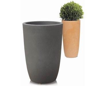 Kunstpflanzen Discount pflanzkübel aus kunststoff anthrazit farbig a1 durchmesser oben