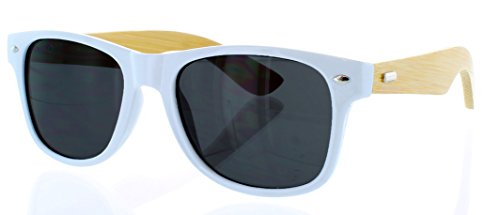 Aviator Vintage Womens Polarized Sunglasses Retro Eyewear (White) - 4