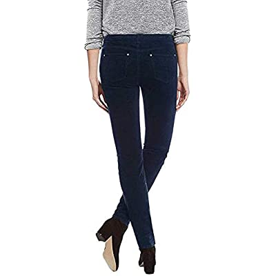 Buffalo Ladies Velvet Pant with Stretch (Navy, 8/29) at Women's Clothing store