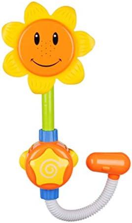 [スポンサー プロダクト]ZUOMA 浴室玩具 プールトイ ノズル シャワーの噴水口 向日葵ノズル 面白い玩具 パズルトイ ビーチ 夏祭り 電動/手動両用 (01)