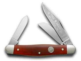 amazon com boker tree brand red smooth bone stockman pocket knife