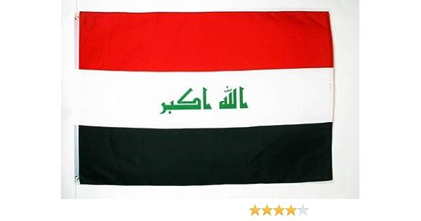 AZ FLAG Bandera de Irak 250x150cm - Gran Bandera IRAQUÍ 150 x 250 ...