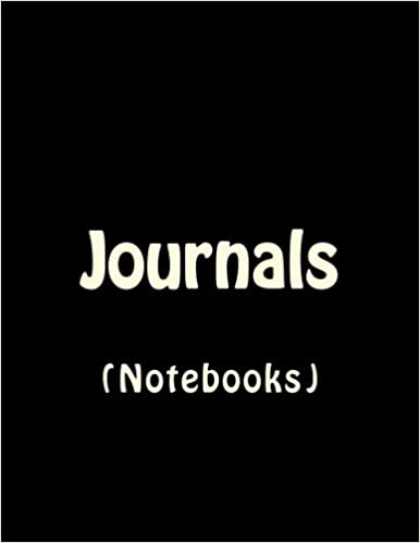 Book Journals Notebooks: Classic Lined Pages Journal (Black Notebook Cover) Option - ON SALE NOW - JUST $6.99: Volume 13