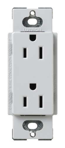 Lutron SCR-15-PD Satin Colors 15A Electrical Socket Duplex Receptacle, Palladium (Satin Palladium)