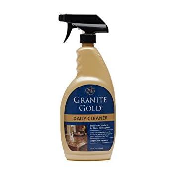 Granite Gold granite cleaner, streak-free formula for stone countertops, marble, quartz, and tile, 24 fl oz