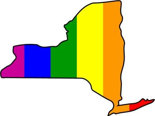 Rainbow Bumper Sticker WickedGoodz Die Cut Rainbow New York Vinyl Decal Perfect NY Gift
