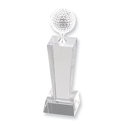 Amazon Com Crystal Golf Trophy Etching Personalized Gift Item