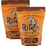 Riley s organics organic dog treats peanut butter and molasses recipe 10oz small