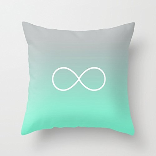 Tiffany Fade Infinity Symbol Square Throw Pillow Case Pillow Covers Decorative for Home - Tiffanys Infinity