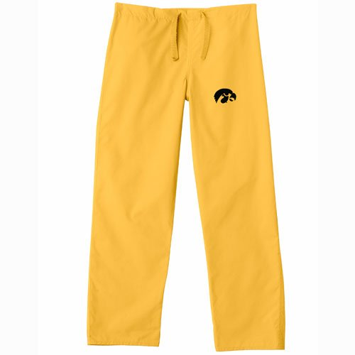 Iowa Hawkeyes NCAA Classic Scrub Pant (Gold) (X Large) by Gelscrubs
