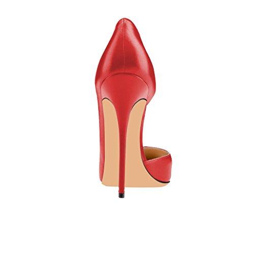 D'orsay Con Alti Donne 4 Punta 15 Fsj Moda Di Noi Per Mimetica A Rosso Formato Le Pompa Stampa Tacchi Punta Metà qPPtw0f