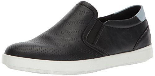 ECCO Women's Women's Aimee Perforated Slip On Fashion Sneaker, Black Arona, 39 EU/8-8.5 M US